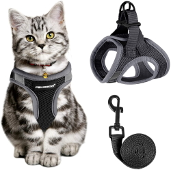 FAYOGOO Cat Harness and Leash for Walking Escape Proof
