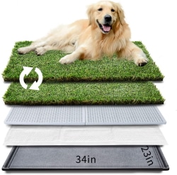 HQ4us Dog Grass pad with Tray Dog Litter Box Toilet