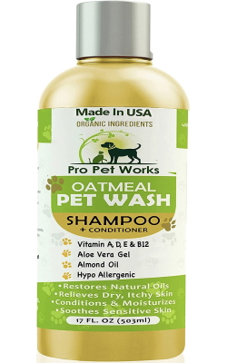 Pro Pet Works Natural Organic 5 in One Oatmeal Pet Shampoo + Conditioner