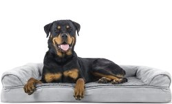 Furhaven Orthopedic Sofa-Style Traditional Dog Bed